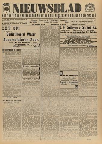 Nieuwsblad het land van Heusden en Altena de Langstraat en de Bommelerwaard 1930-10-10