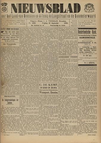 Nieuwsblad het land van Heusden en Altena de Langstraat en de Bommelerwaard 1923-09-21
