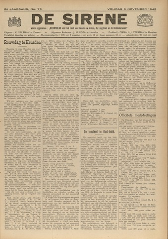 De Sirene 1945-11-09