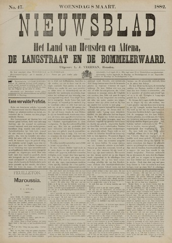 Nieuwsblad het land van Heusden en Altena de Langstraat en de Bommelerwaard 1882-03-08