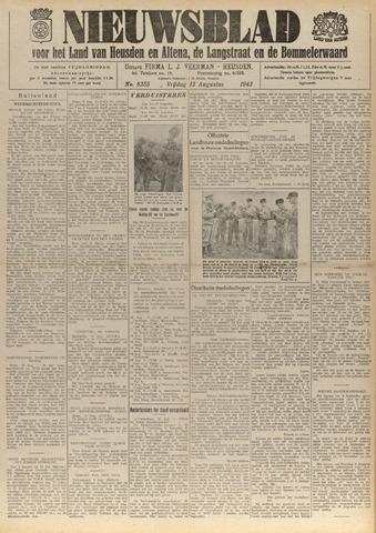 Nieuwsblad het land van Heusden en Altena de Langstraat en de Bommelerwaard 1943-08-13