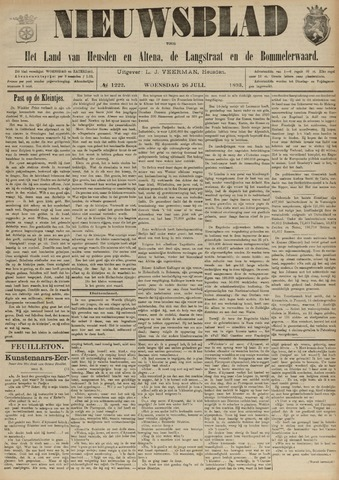 Nieuwsblad het land van Heusden en Altena de Langstraat en de Bommelerwaard 1893-07-26