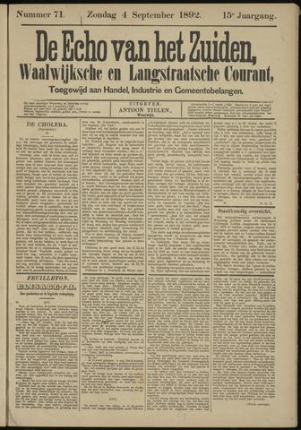 Echo van het Zuiden 1892-09-04