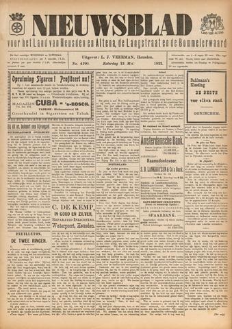 Nieuwsblad het land van Heusden en Altena de Langstraat en de Bommelerwaard 1922-05-13