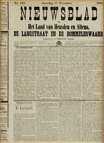 Nieuwsblad het land van Heusden en Altena de Langstraat en de Bommelerwaard 1883-11-17