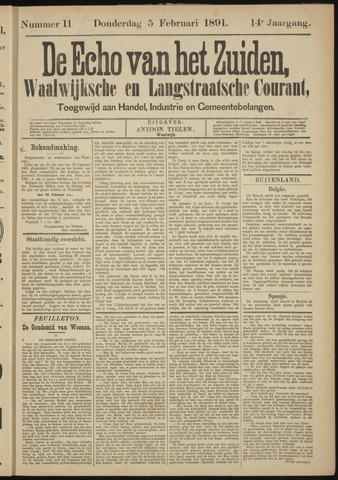 Echo van het Zuiden 1891-02-05