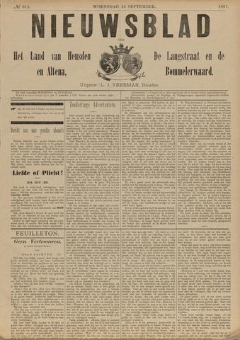 Nieuwsblad het land van Heusden en Altena de Langstraat en de Bommelerwaard 1887-09-14