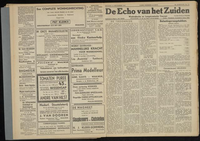 Echo van het Zuiden 1947-09-23