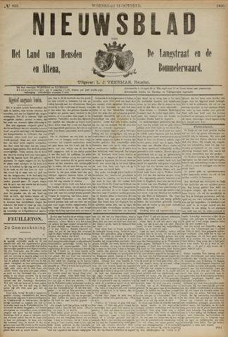 Nieuwsblad het land van Heusden en Altena de Langstraat en de Bommelerwaard 1890-10-15
