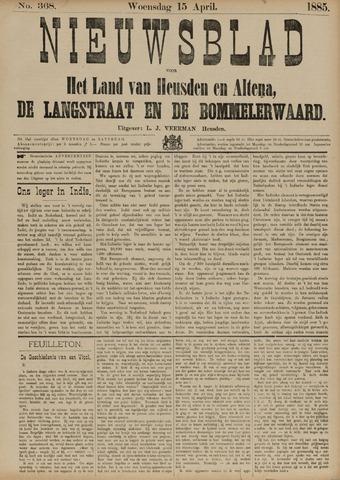 Nieuwsblad het land van Heusden en Altena de Langstraat en de Bommelerwaard 1885-04-15