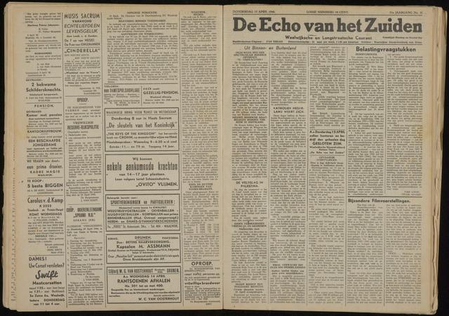Echo van het Zuiden 1948-04-15
