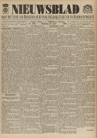 Nieuwsblad het land van Heusden en Altena de Langstraat en de Bommelerwaard 1925-04-15