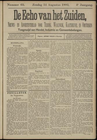 Echo van het Zuiden 1881-08-14