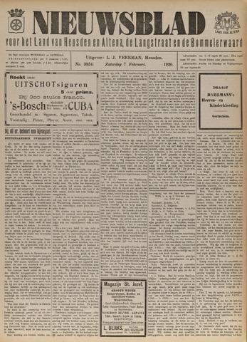 Nieuwsblad het land van Heusden en Altena de Langstraat en de Bommelerwaard 1920-02-07
