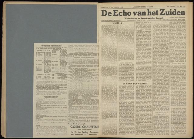 Echo van het Zuiden 1946-10-01