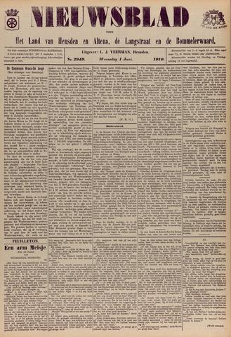 Nieuwsblad het land van Heusden en Altena de Langstraat en de Bommelerwaard 1910-06-01