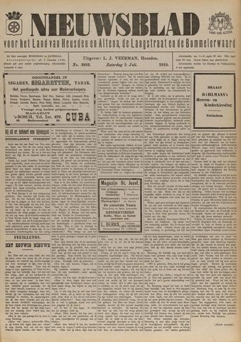 Nieuwsblad het land van Heusden en Altena de Langstraat en de Bommelerwaard 1919-07-05