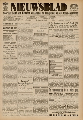 Nieuwsblad het land van Heusden en Altena de Langstraat en de Bommelerwaard 1936-04-24