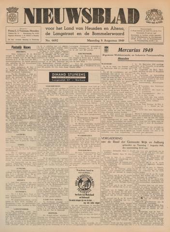 Nieuwsblad het land van Heusden en Altena de Langstraat en de Bommelerwaard 1949-08-08