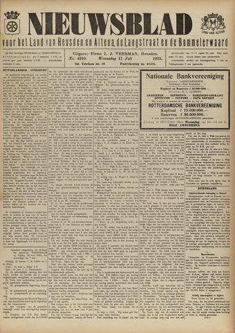 Nieuwsblad het land van Heusden en Altena de Langstraat en de Bommelerwaard 1923-07-11