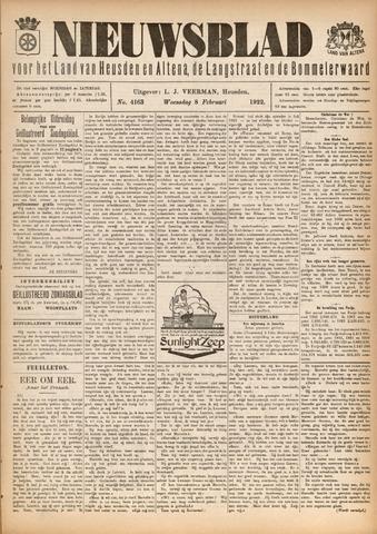 Nieuwsblad het land van Heusden en Altena de Langstraat en de Bommelerwaard 1922-02-08