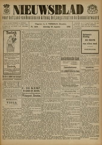 Nieuwsblad het land van Heusden en Altena de Langstraat en de Bommelerwaard 1922-08-19