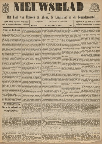 Nieuwsblad het land van Heusden en Altena de Langstraat en de Bommelerwaard 1901-09-04