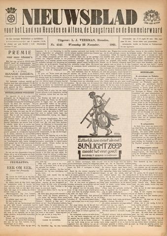Nieuwsblad het land van Heusden en Altena de Langstraat en de Bommelerwaard 1921-11-23