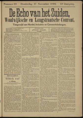 Echo van het Zuiden 1892-11-17