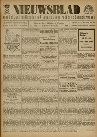 Nieuwsblad het land van Heusden en Altena de Langstraat en de Bommelerwaard 1922-09-02