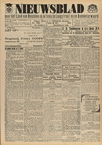 Nieuwsblad het land van Heusden en Altena de Langstraat en de Bommelerwaard 1930-05-23