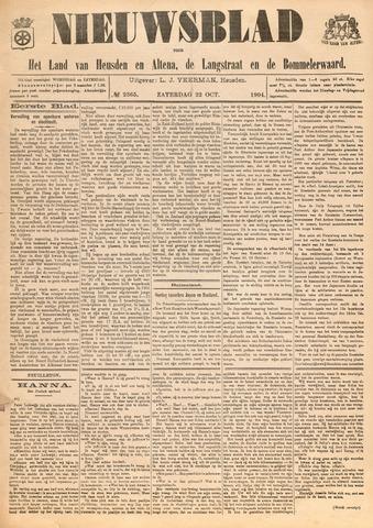 Nieuwsblad het land van Heusden en Altena de Langstraat en de Bommelerwaard 1904-10-22