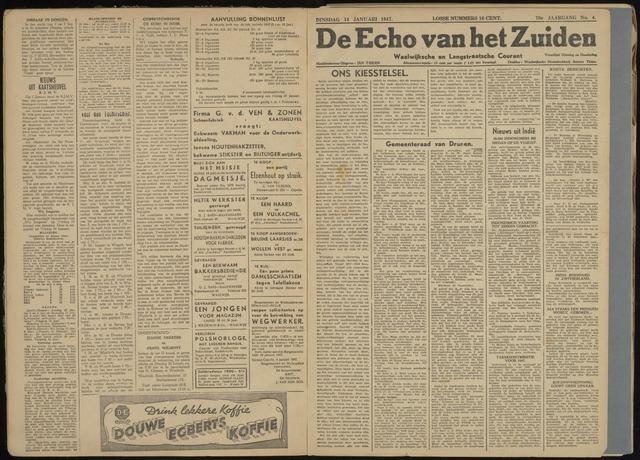 Echo van het Zuiden 1947-01-14
