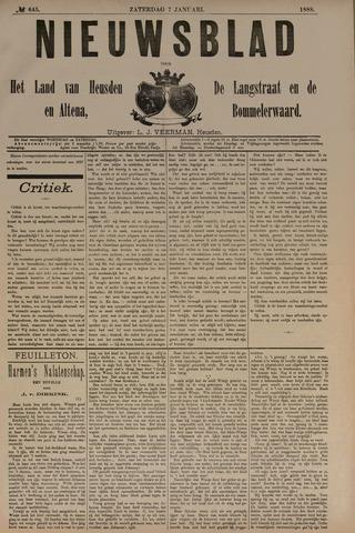 Nieuwsblad het land van Heusden en Altena de Langstraat en de Bommelerwaard 1888-01-07