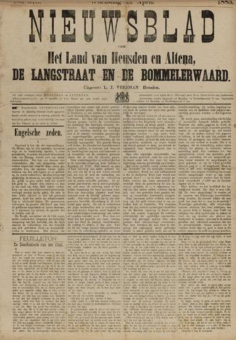 Nieuwsblad het land van Heusden en Altena de Langstraat en de Bommelerwaard 1885-04-22