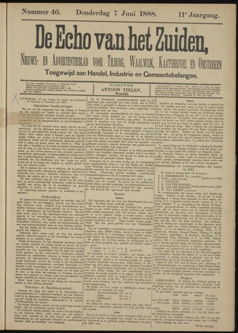 Echo van het Zuiden 1888-06-07