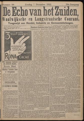 Echo van het Zuiden 1913-12-07