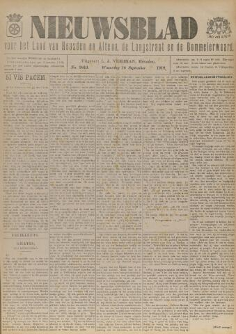 Nieuwsblad het land van Heusden en Altena de Langstraat en de Bommelerwaard 1918-09-18