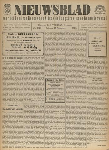 Nieuwsblad het land van Heusden en Altena de Langstraat en de Bommelerwaard 1920-09-25