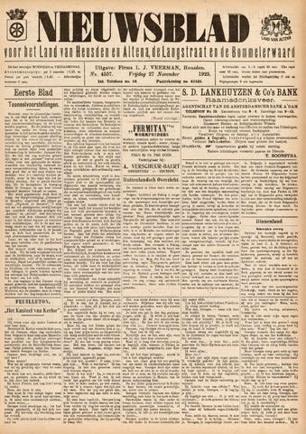 Nieuwsblad het land van Heusden en Altena de Langstraat en de Bommelerwaard 1925-11-27