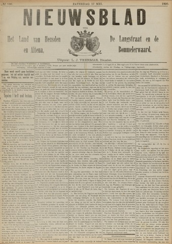 Nieuwsblad het land van Heusden en Altena de Langstraat en de Bommelerwaard 1890-05-17