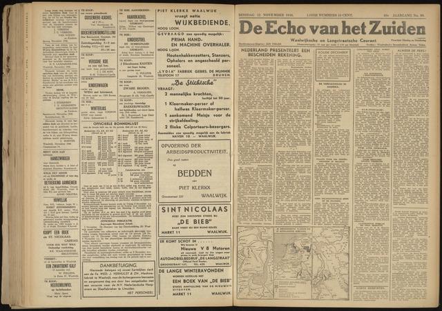 Echo van het Zuiden 1946-11-12