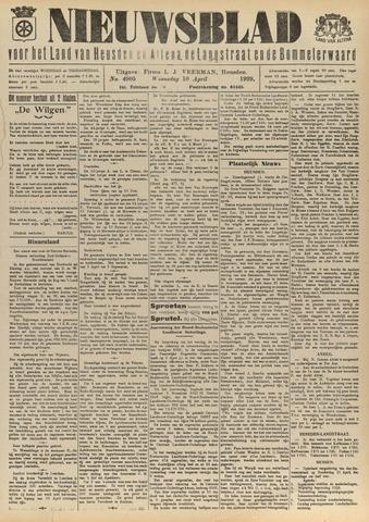 Nieuwsblad het land van Heusden en Altena de Langstraat en de Bommelerwaard 1929-04-10