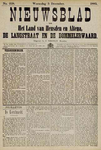 Nieuwsblad het land van Heusden en Altena de Langstraat en de Bommelerwaard 1883-12-05