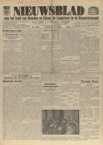Nieuwsblad het land van Heusden en Altena de Langstraat en de Bommelerwaard 1941-11-28