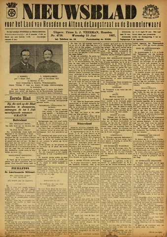 Nieuwsblad het land van Heusden en Altena de Langstraat en de Bommelerwaard 1927-06-15