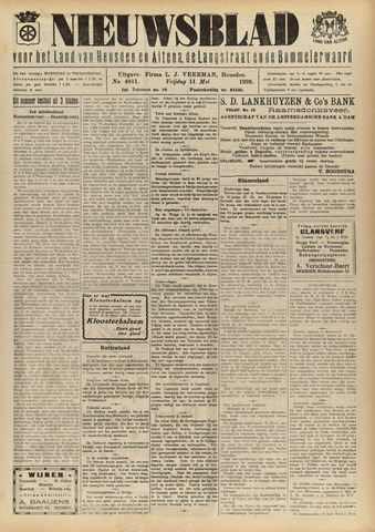 Nieuwsblad het land van Heusden en Altena de Langstraat en de Bommelerwaard 1928-05-11