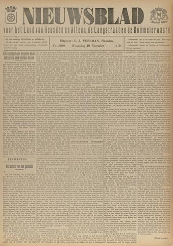 Nieuwsblad het land van Heusden en Altena de Langstraat en de Bommelerwaard 1919-11-19