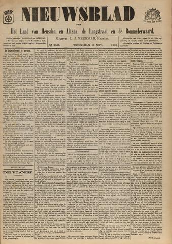 Nieuwsblad het land van Heusden en Altena de Langstraat en de Bommelerwaard 1902-11-12