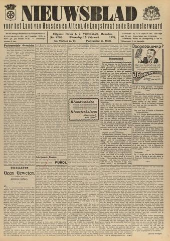 Nieuwsblad het land van Heusden en Altena de Langstraat en de Bommelerwaard 1928-02-15